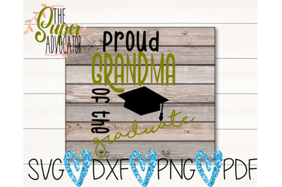 Proud Grandma Of The Graduate SVG, PDF, PNG, & DXF Design