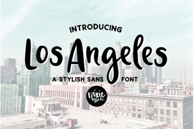 LOS ANGELES a Stylish Sans Serif Font