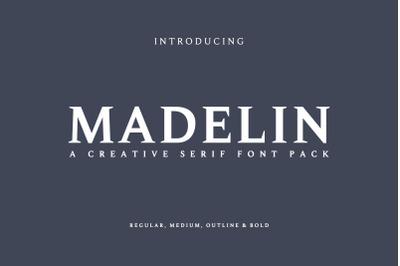 Madelin Serif Font Family