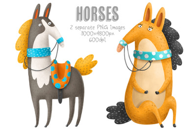 2 horses images