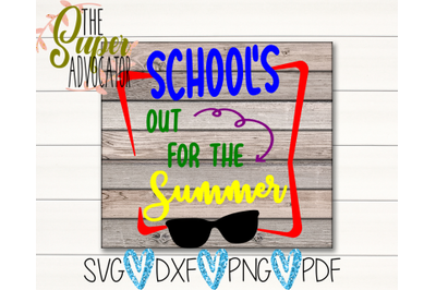 School's Out For The Summer SVG, PDF, PNG, & DXF Design