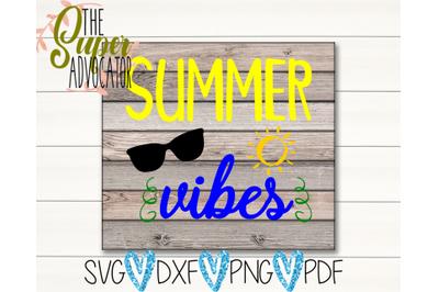 Summer Vibes PDF, PNG, SVG, & DXF Design