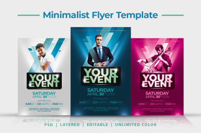 Minimalist Music Flyer Template