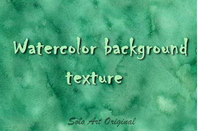 Emerald Watercolor Texture Background