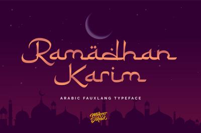 Ramadhan Karim - Fauxlang Arabic Font
