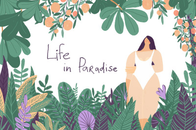 Life in Paradise graphic set