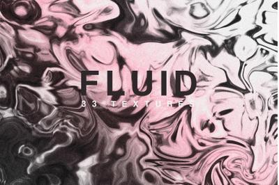 Fluid textures marble metallic rose pink