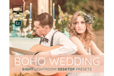 Boho Wedding Lightroom desktop presets