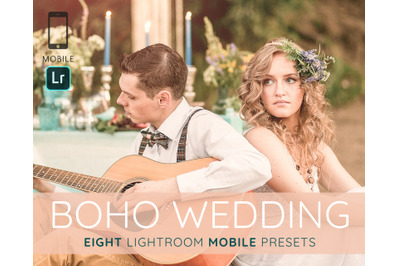 Boho wedding mobile Lightroom presets