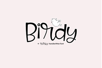 Birdy - A Quirky Handwritten Font