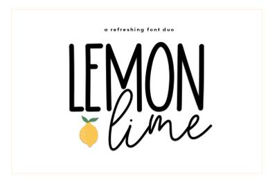 Lemon Lime - A Handwritten Script/Print Duo Font