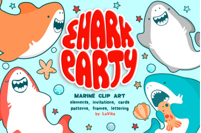 Shark Party / Cute Underwater World