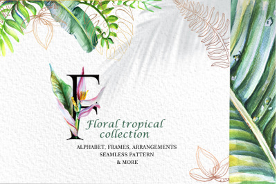 Floral tropical collection
