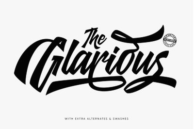 Glarious - Calligraphy Font