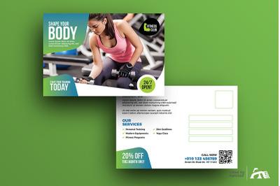 Fitness | Gym Postcard Template