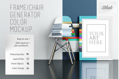 Frame/chair Generator Color - Mockup