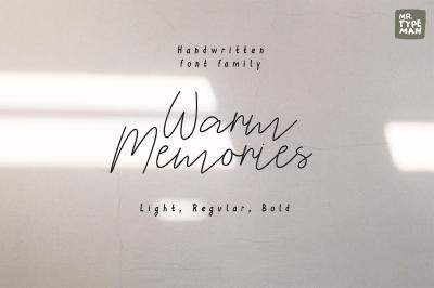 Warm Memories | Script Font Trio
