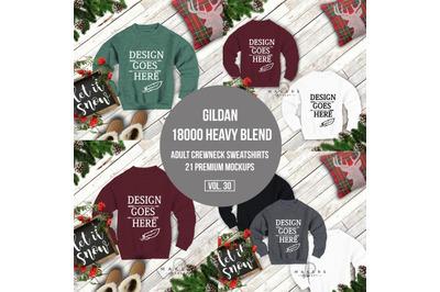 Crewneck Mock-up/Sweat Shirt Download/ Gildan 18000 Blanks/ Gildan Moc