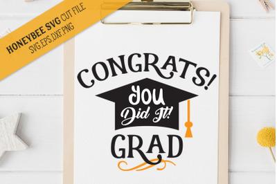 Congrats Grad SVG Cut File