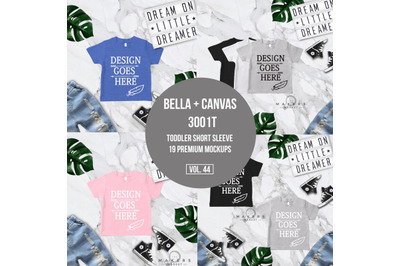 Toddler Shirts Mock-up/ Toddler Tee Mock-ups/ Bella Canvas 3001T/ Bell