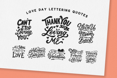 Love Day Lettering Quotes