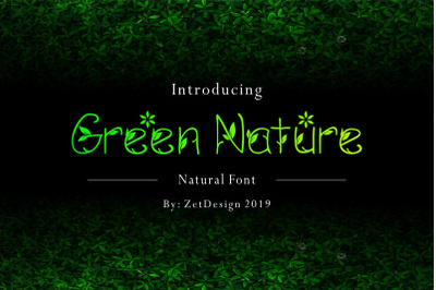 GREEN NATURE FONT