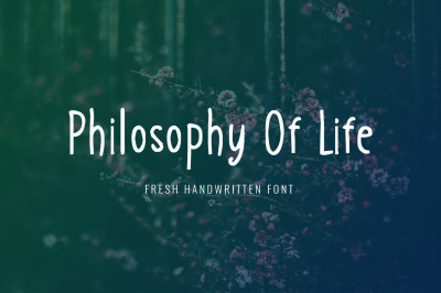 Philosophy of Life Font