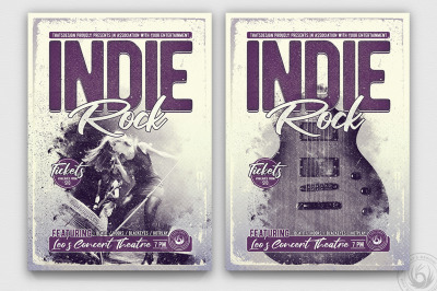 Indie Rock Flyer Template V3
