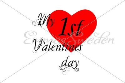 My 1st valentines day svg