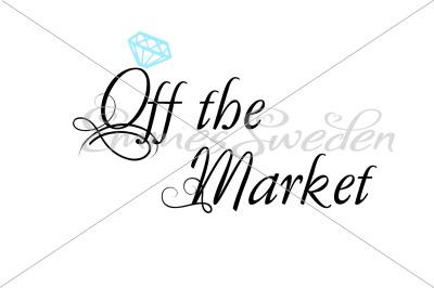 Off the market, diamond, engagement svg