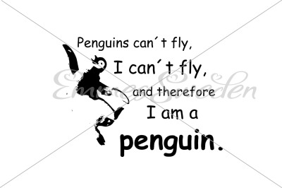 Penguins can't fly, I can't fly svg