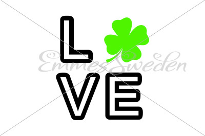 St patricks love svg
