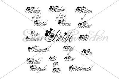 Wedding bundle svg