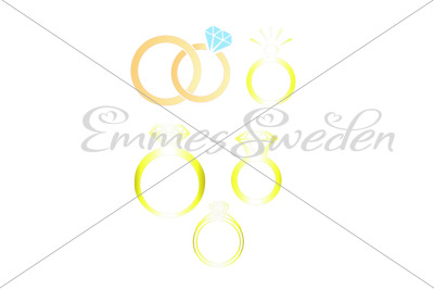Wedding rings bundle