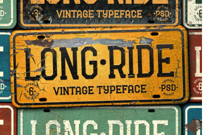 Long Ride. Font & Mockup