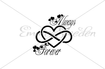 Always forever, infinity sign