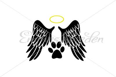 Angel, dog paw svg