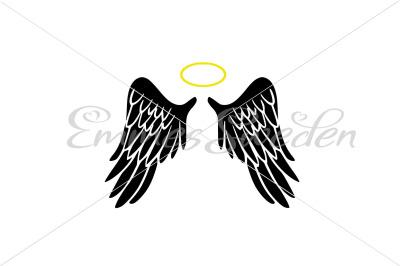 Angel, wings, halo svg