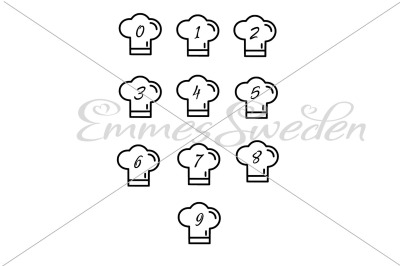 Chef hat, numbers Bundle