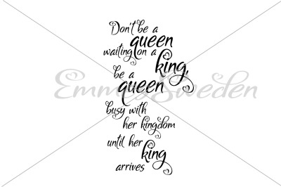 King, queen, kingdom svg