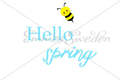 Hello spring, bee svg