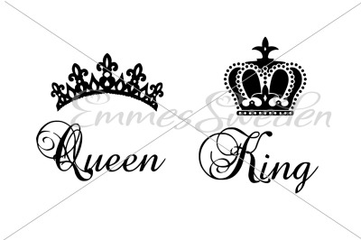 King, queen, crown svg