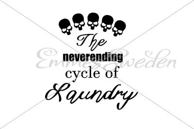 The neverending cycle of laundry