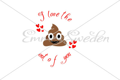 Poop emoji, love svg