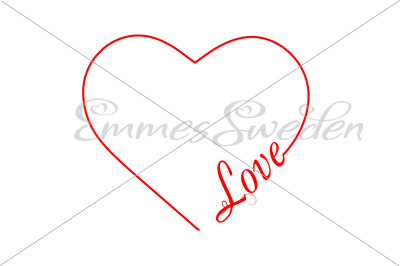 Love, heart svg