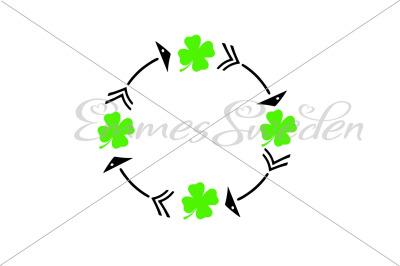 Lucky clover circle