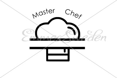 Master chef split, chef hat svg