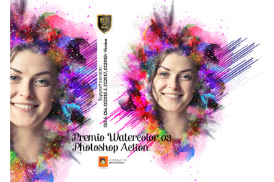 Premio Watercolor Photoshop Action Vl 3