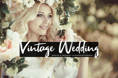 Vintage Wedding Mobile & Desktop Lightroom Presets