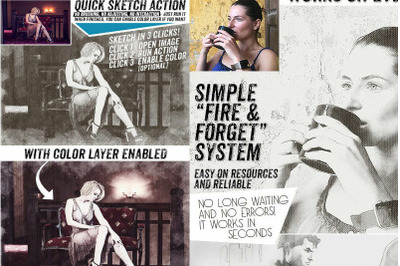 Sketch Fast and Reliable Photoshop Action